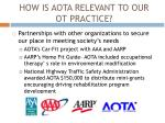 how is aota relevant to our ot practice5