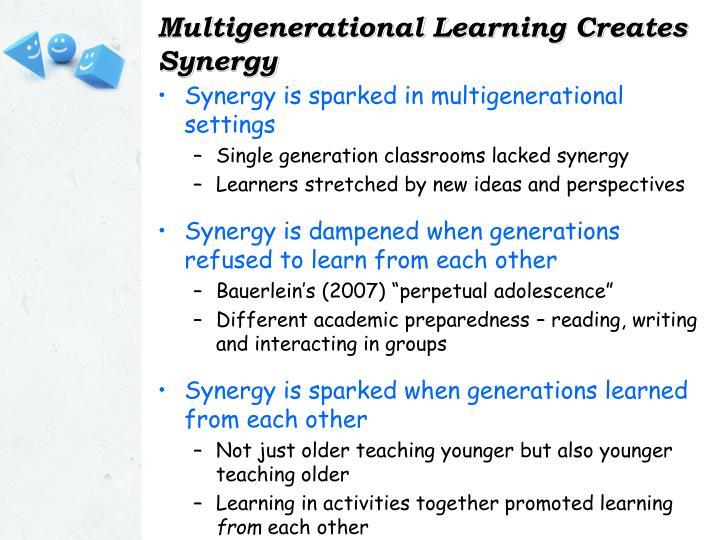 Multigenerational Learning Creates Synergy