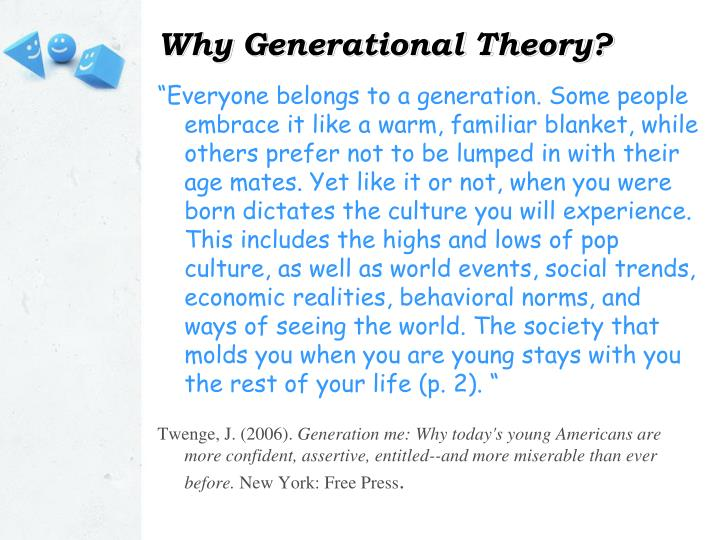 Why Generational Theory?