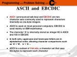 ascii and ebcdic