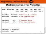 declaring enum type variables