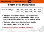 enum type declaration