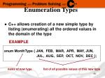 enumeration types