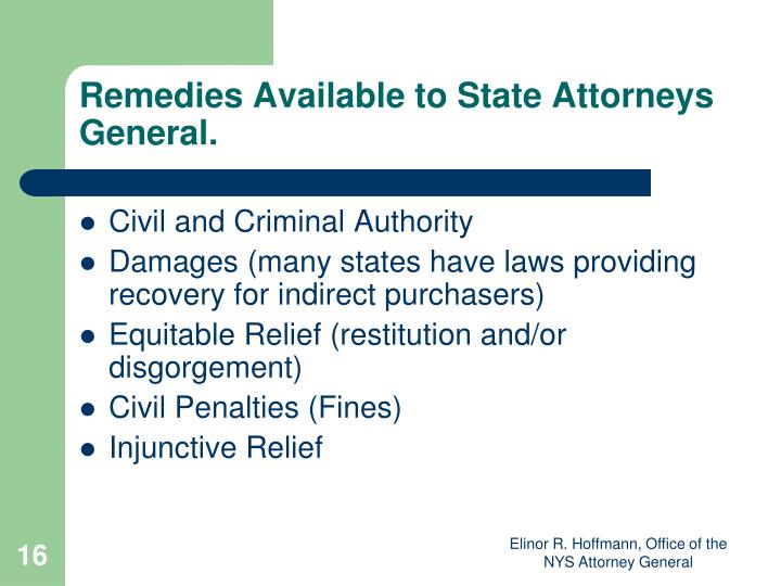 Remedies Available to State Attorneys General.