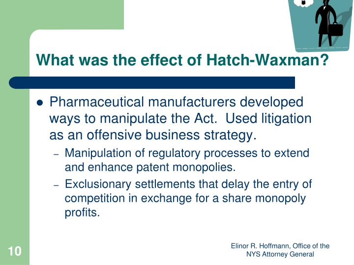 What was the effect of Hatch-Waxman?