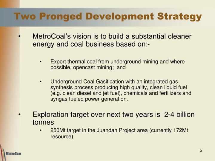 Two Pronged Development Strategy