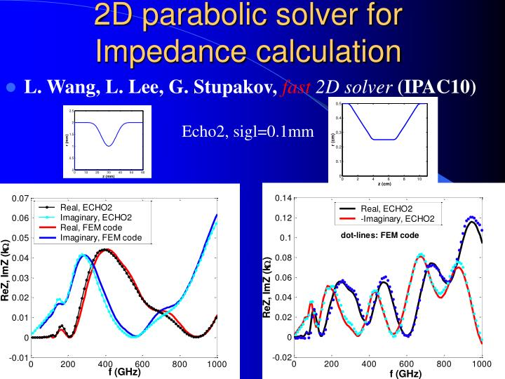 2D parabolic solver for Impedance calculation