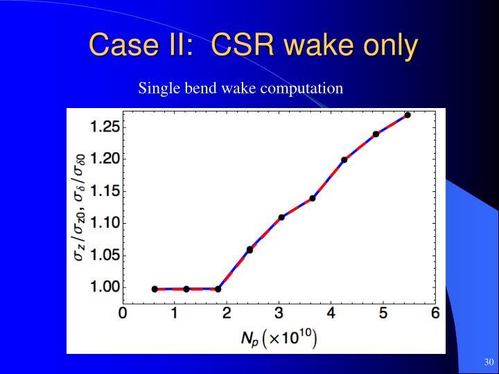Case II:  CSR wake only