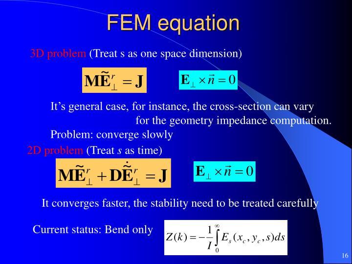 FEM equation