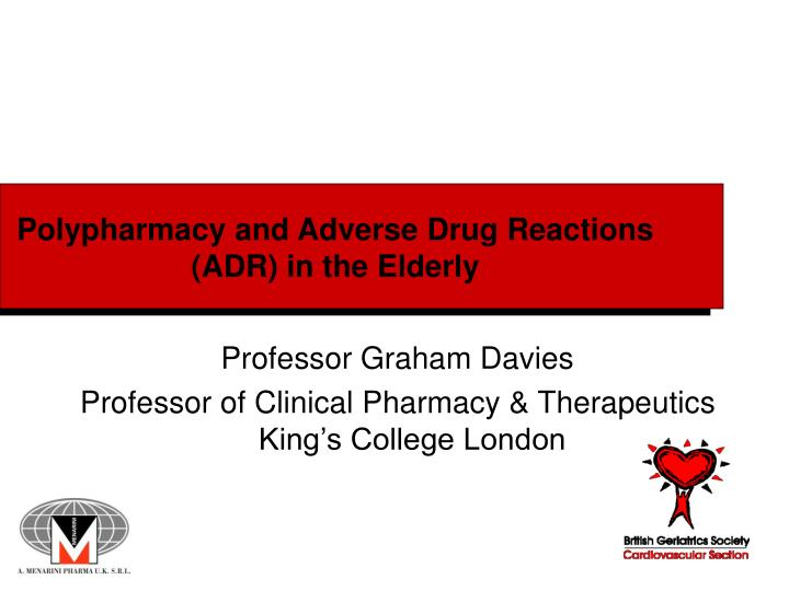 polypharmacy and adverse drug reactions adr in the elderly n.