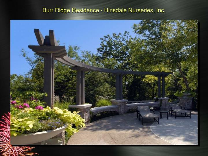 Burr Ridge Residence - Hinsdale Nurseries, Inc.