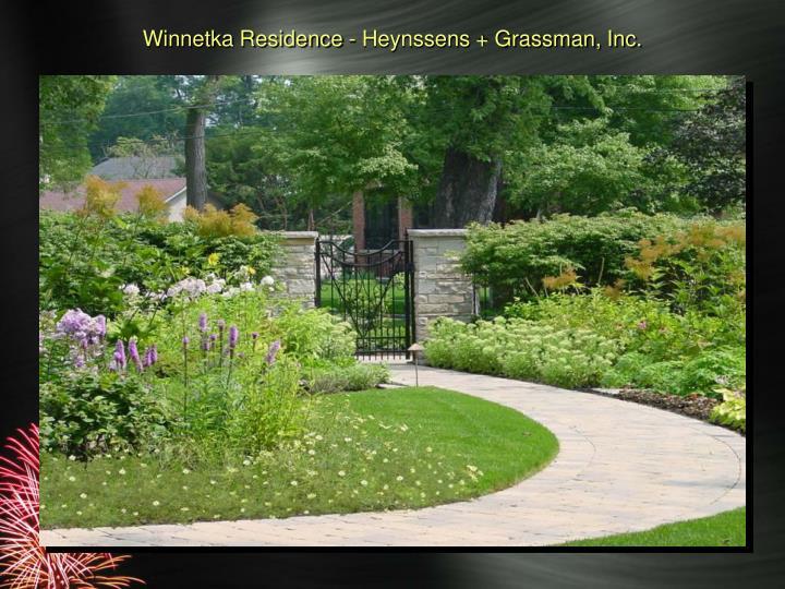 Winnetka Residence - Heynssens + Grassman, Inc.