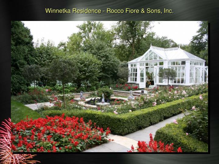 Winnetka Residence - Rocco Fiore & Sons, Inc.