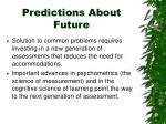 predictions about future1