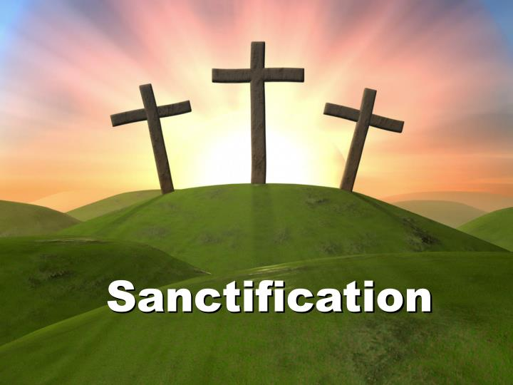 sanctification n.