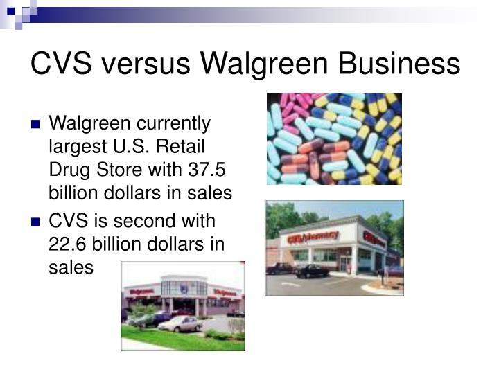 CVS versus Walgreen Business