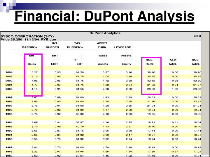 Financial: DuPont Analysis