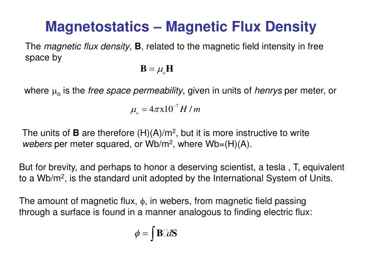 PPT - Magnetostatics – Magnetic Flux Density PowerPoint Presentation