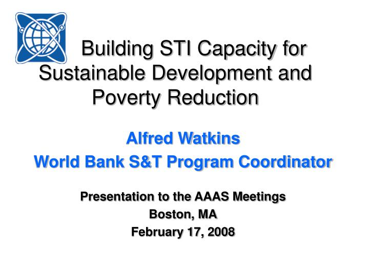 building sti capacity for sustainable development and poverty reduction n.