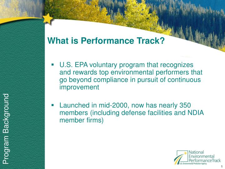 what is performance track