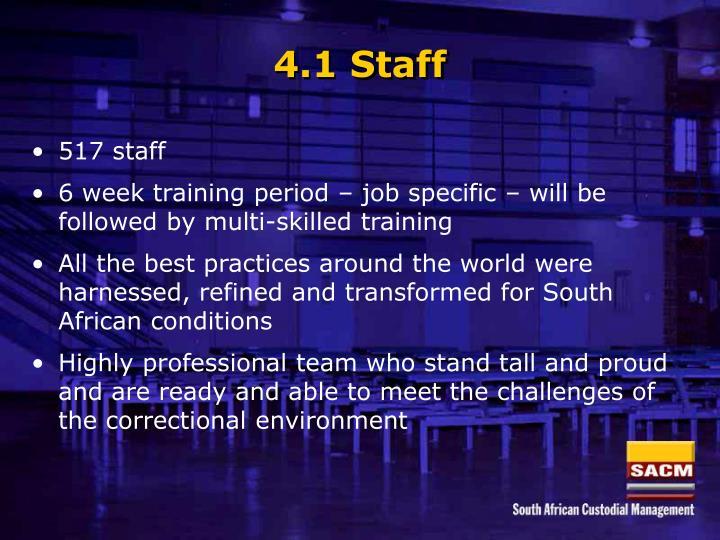 4.1 Staff