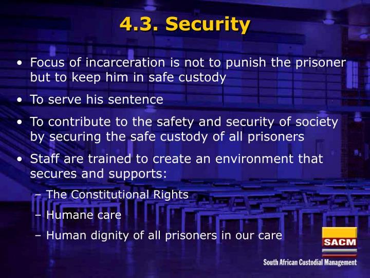4.3. Security