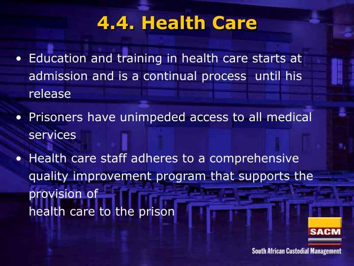 4.4. Health Care