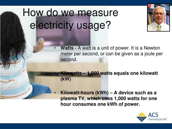 How do we measure electricity usage?