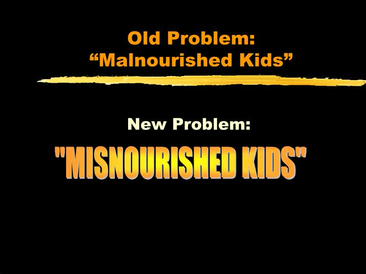 Old Problem: