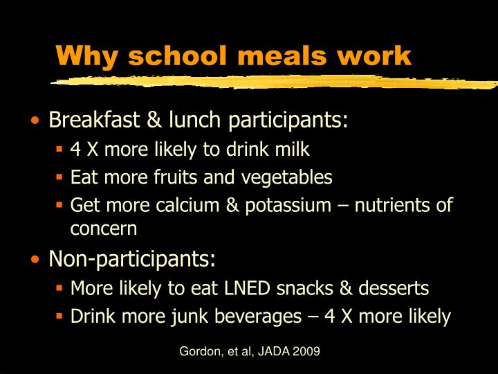 Why school meals work
