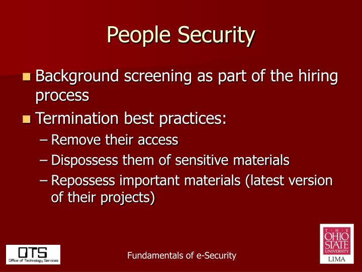 People Security