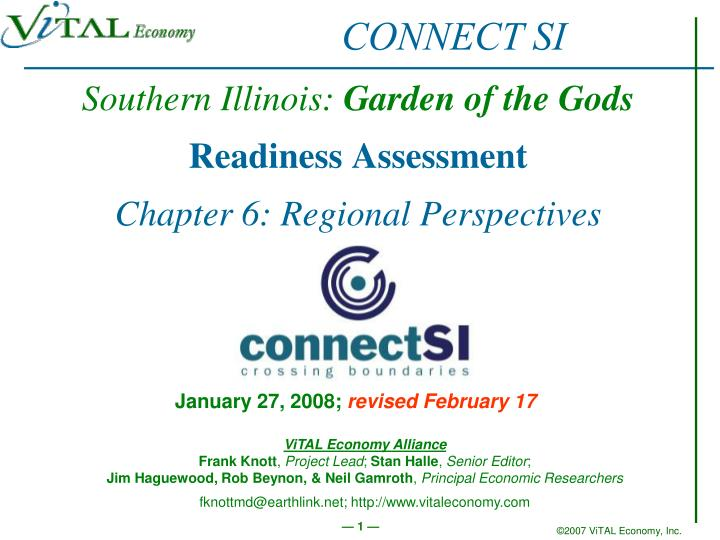 southern illinois garden of the gods readiness assessment chapter 6 regional perspectives n.