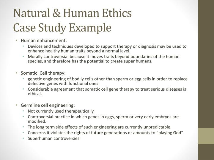 Human genetic engineering case studies Coursework Academic