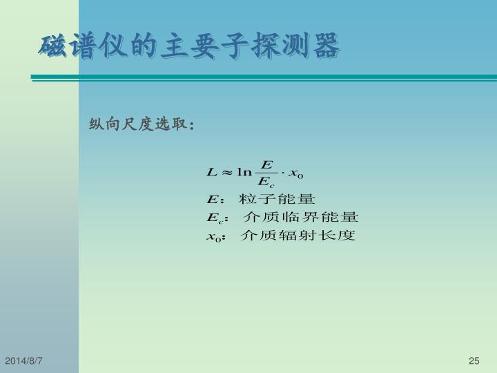 磁谱仪的主要子探测器