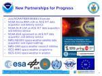 new partnerships for progress