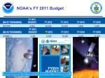 noaa s fy 2011 budget