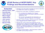 ucar review of ncep swpc key findings and recommendations