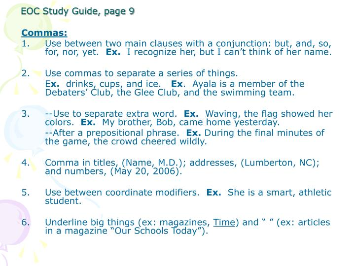 EOC Study Guide, page 9