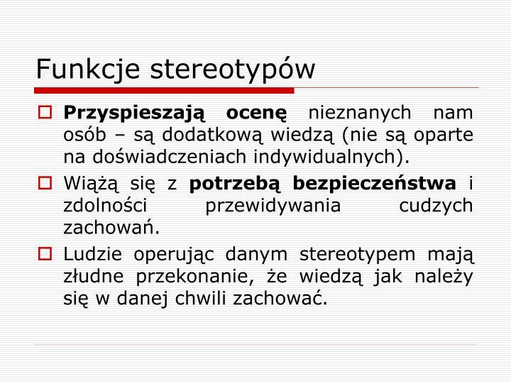 Funkcje stereotypów