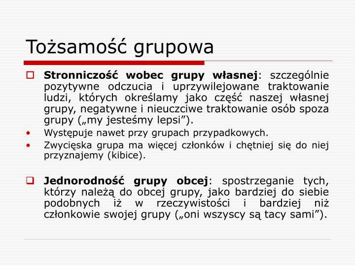 Tożsamość grupowa