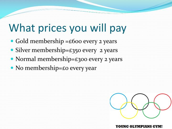 What prices you will pay