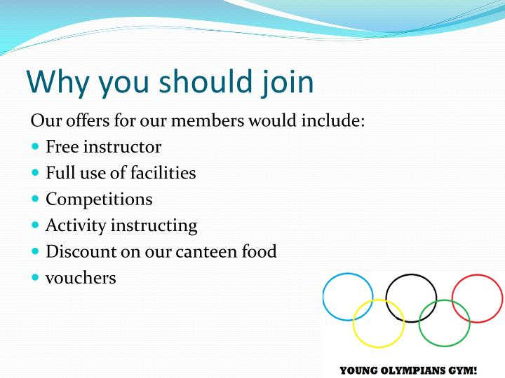 Why you should join