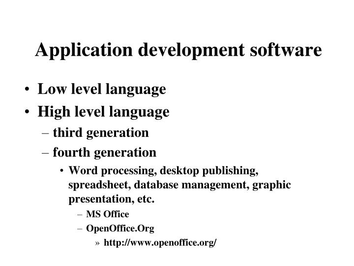 Application development software