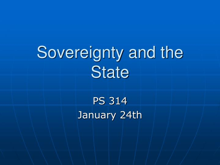 sovereignty and the state n.