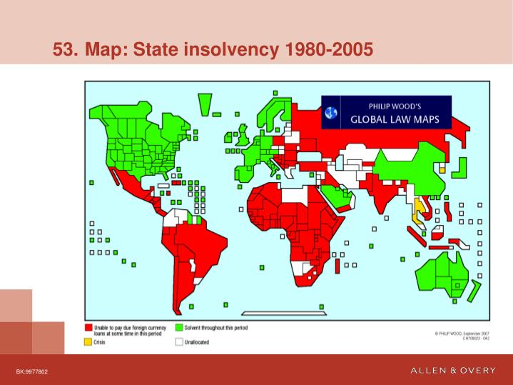 53. Map: State insolvency 1980-2005