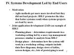 iv systems development led by end users