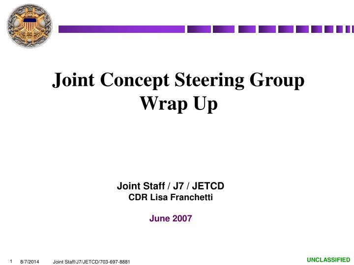 joint concept steering group wrap up n.
