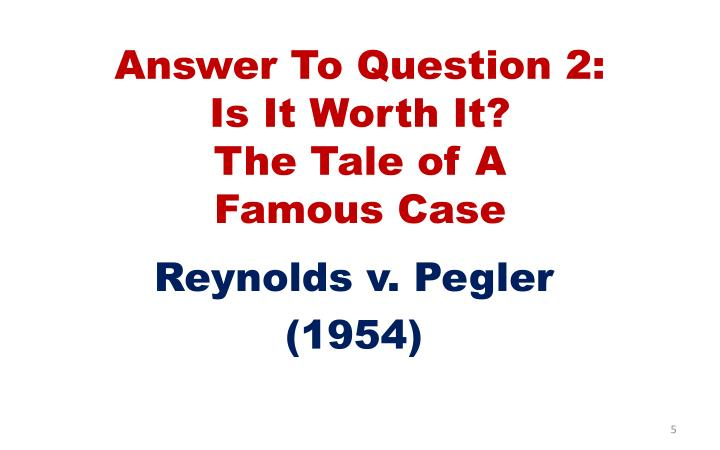 Answer To Question 2:
