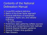 contents of the national delineation manual