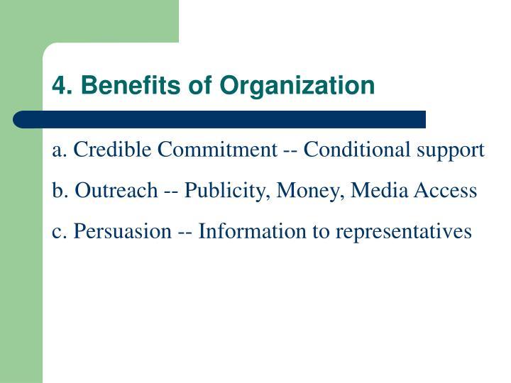 4. Benefits of Organization